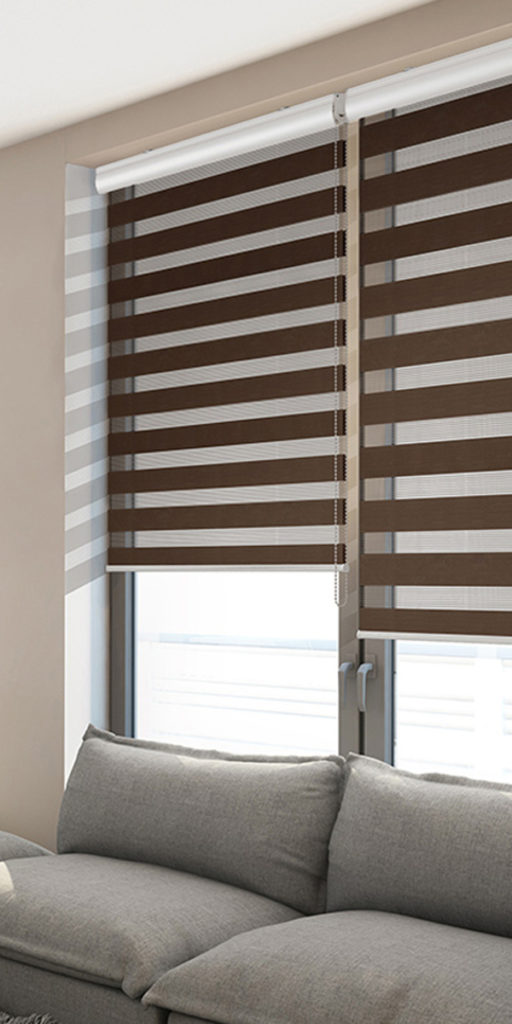 Zebra roller blinds with valance double layer 1